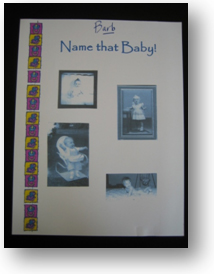 name that baby! photo album